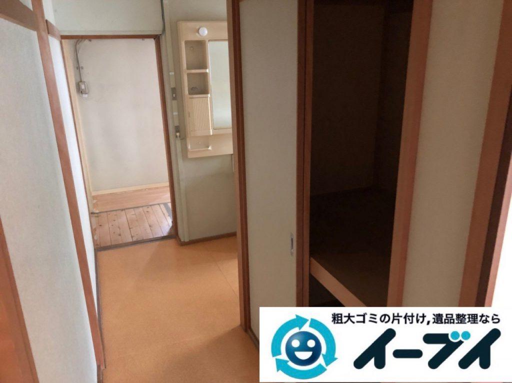 2018年12月25日大阪府堺市北区で冷蔵庫や押し入れ収納ケースなど不用品回収しました。写真1