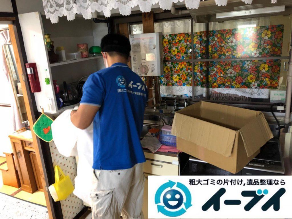 2018年12月11日大阪府大阪市大正区で引っ越しに伴いキッチン周りの片付け処分のご依頼。写真2