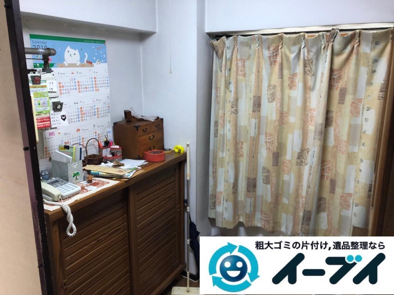 2018年12月13日大阪府大阪市福島区で転居に伴い食器棚や家電などの不用品回収。写真4