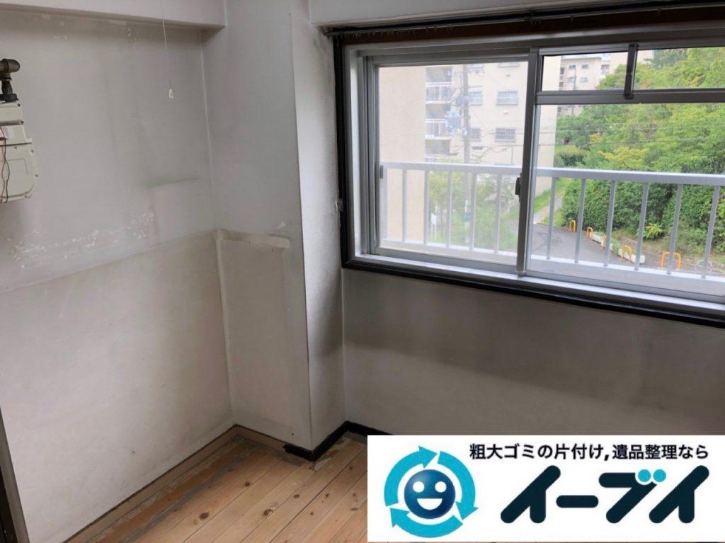 2018年12月13日大阪府大阪市福島区で転居に伴い食器棚や家電などの不用品回収。写真3