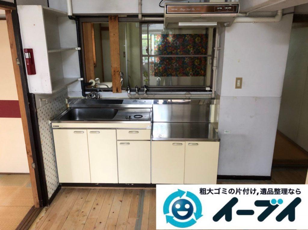 2018年12月11日大阪府大阪市大正区で引っ越しに伴いキッチン周りの片付け処分のご依頼。写真3
