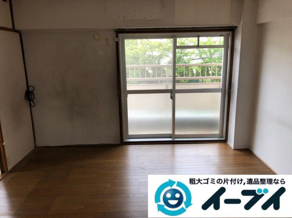 2018年12月7日大阪府大阪市港区で施設入居に伴い家財道具の処分片付け。写真3