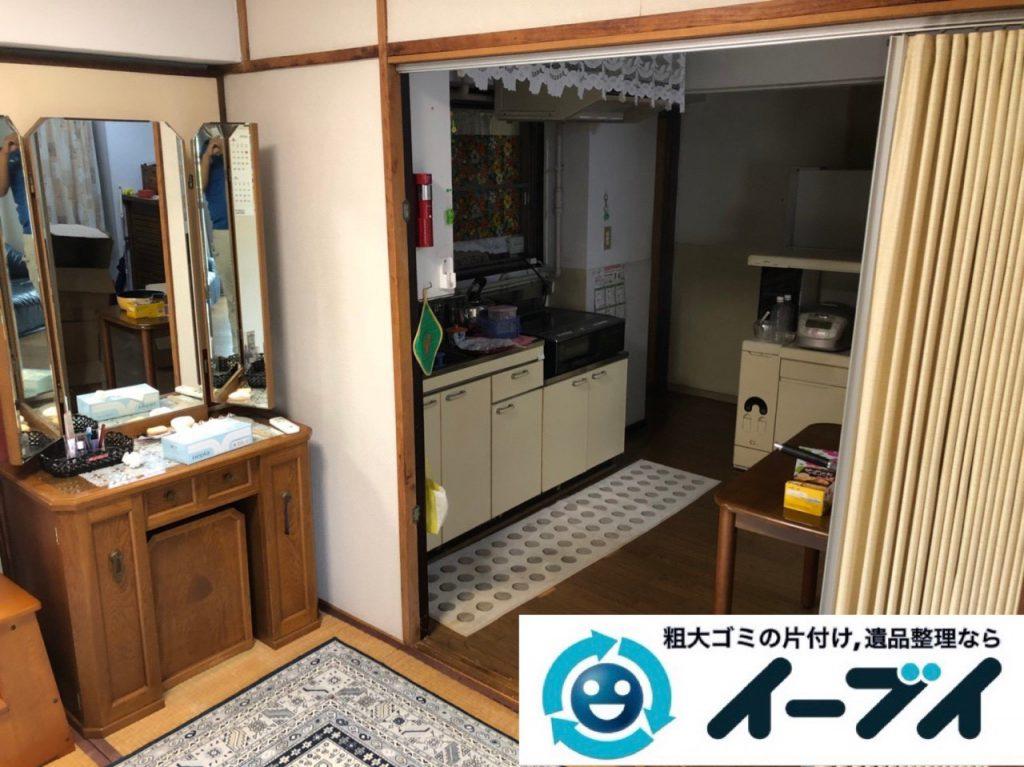 2018年12月7日大阪府大阪市港区で施設入居に伴い家財道具の処分片付け。写真2