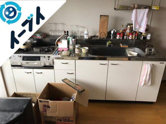 2018年12月14日大阪府大阪市東淀川区で転居に伴い布団やキッチン道具などを回収しました。写真2
