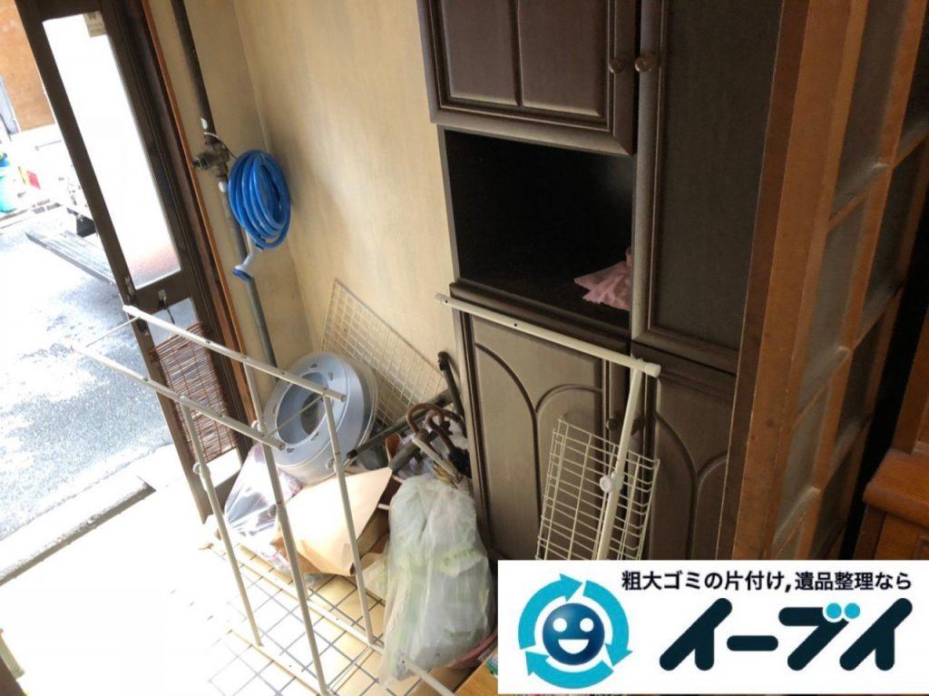 2018年12月30日大阪府堺市中区で家具処分で食器棚と食器の片付け整理をしました。写真4
