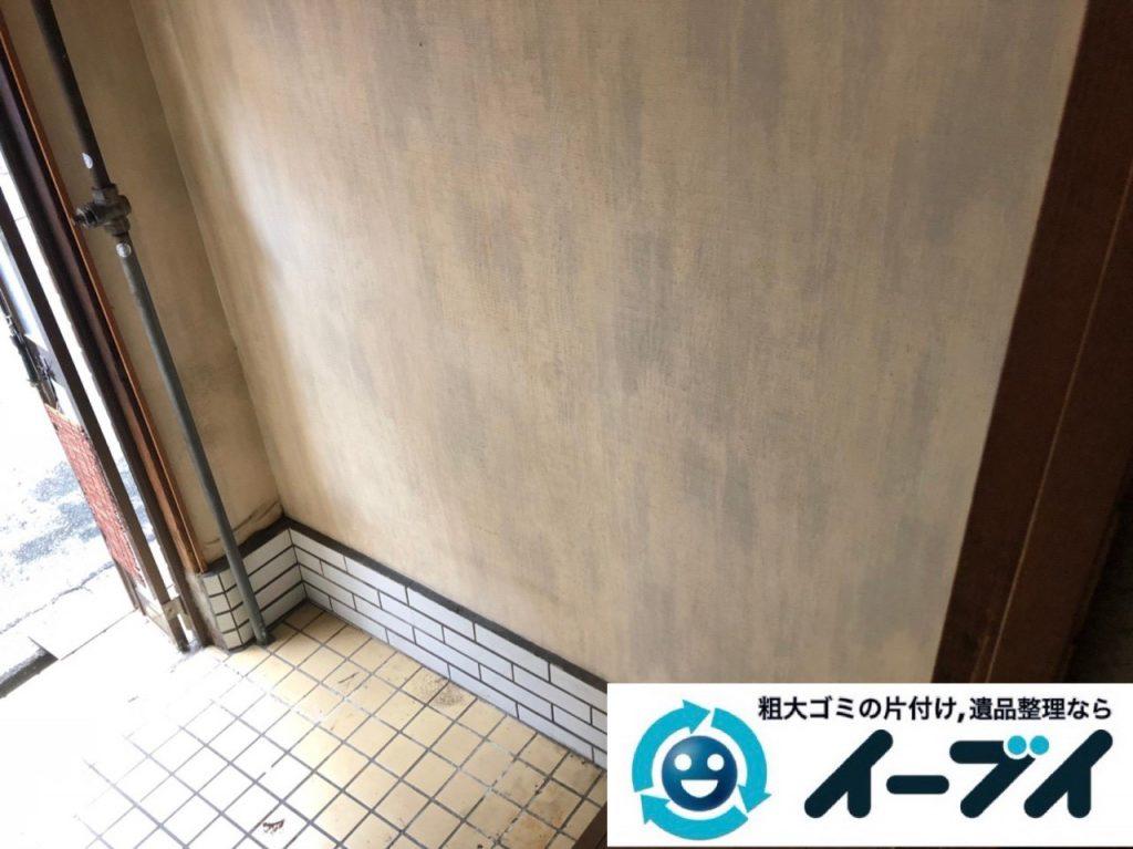 2018年12月30日大阪府堺市中区で家具処分で食器棚と食器の片付け整理をしました。写真3