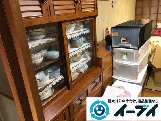 2018年12月30日大阪府堺市中区で家具処分で食器棚と食器の片付け整理をしました。写真2