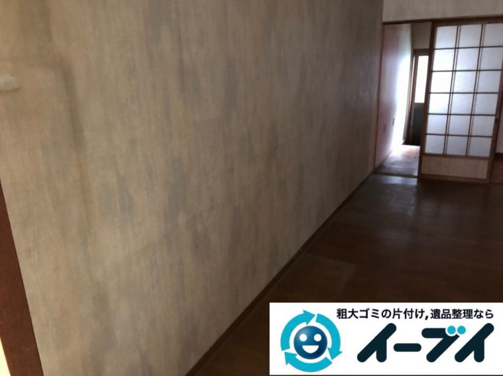 2018年12月30日大阪府堺市中区で家具処分で食器棚と食器の片付け整理をしました。写真1