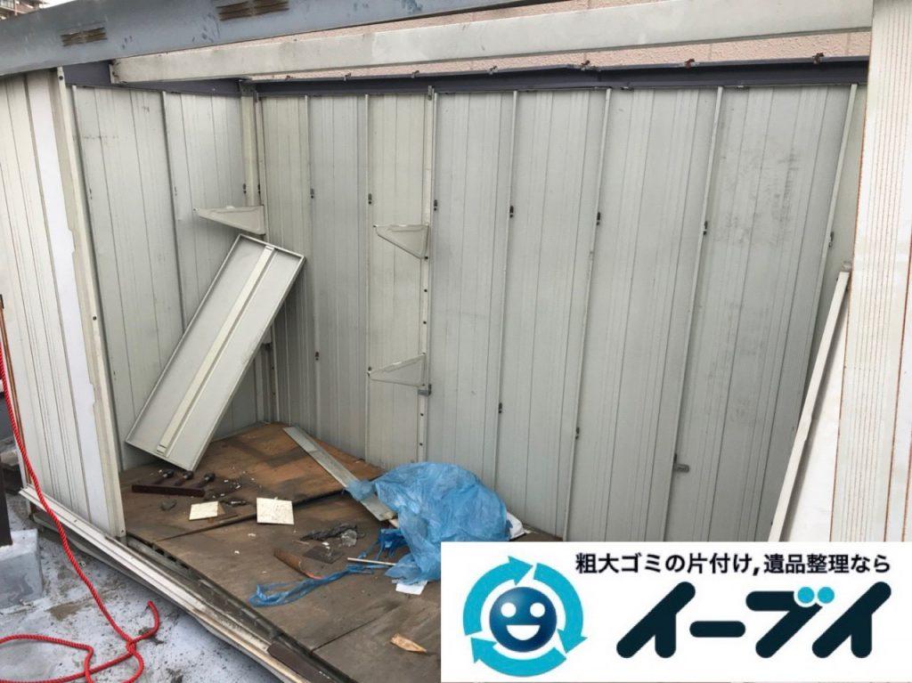 2018年12月12日・回収させていただいた不用品は、 物置、工具用品、レンガ、アルミ缶、廃品などです。写真4