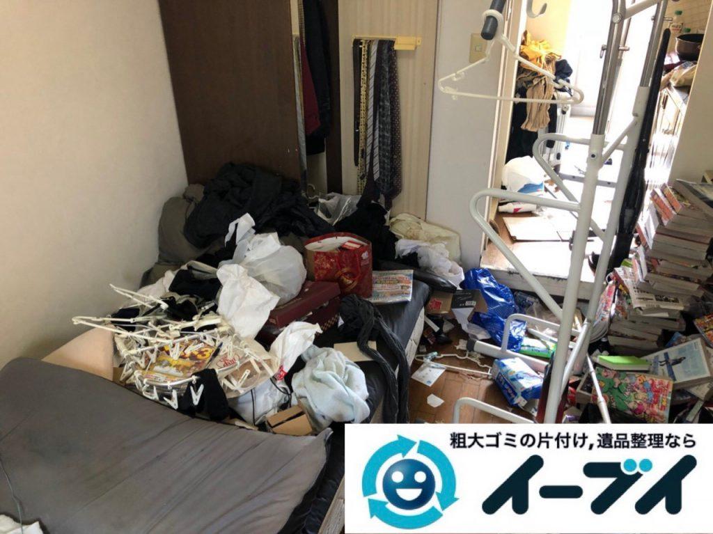 2018年1月1日大阪府大阪市大正区で管理会社様からゴミ屋敷片付けの依頼。写真3