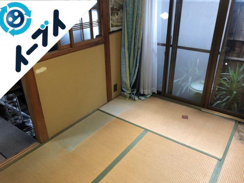 2018年12月27日大阪府堺市堺区で引っ越しに伴い整理された不用品の回収をしました。写真1