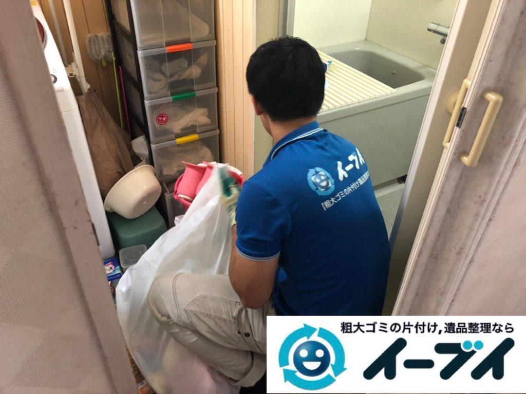 2019年2月11日大阪府島本町で脱衣所、浴室周りの不用品回収。写真3