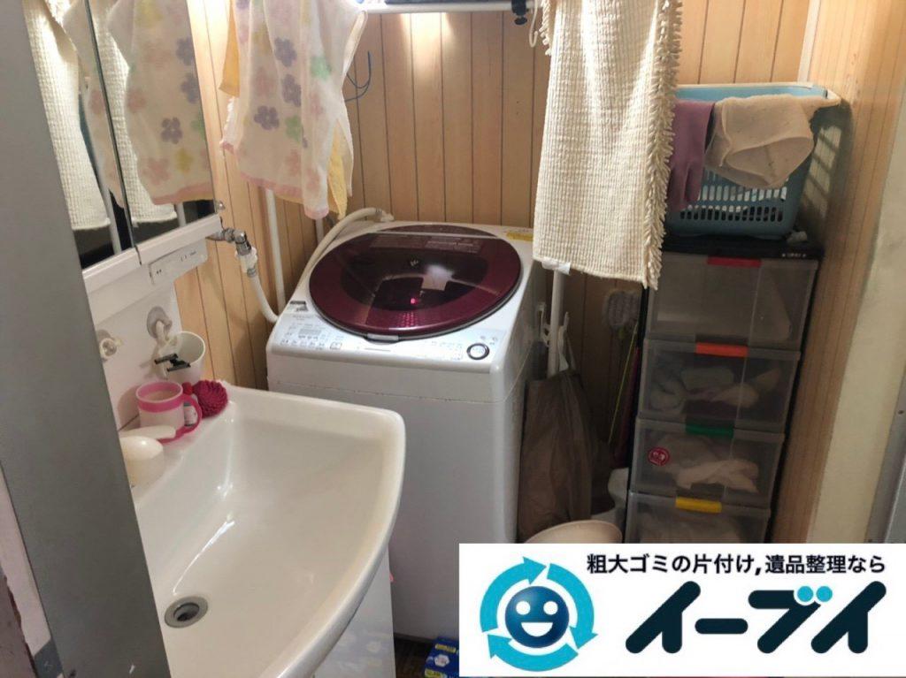 2019年2月11日大阪府島本町で脱衣所、浴室周りの不用品回収。写真2