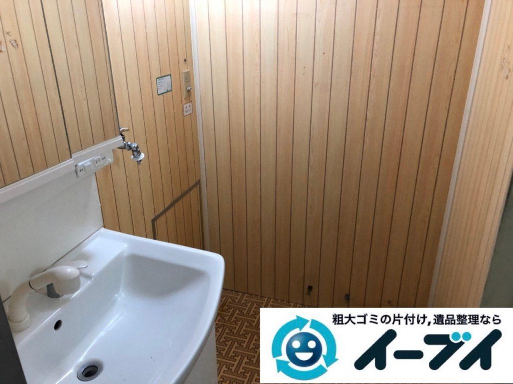2019年2月11日大阪府島本町で脱衣所、浴室周りの不用品回収。写真1