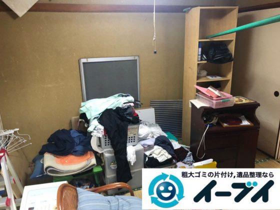 2019年2月12日大阪府忠岡町で箪笥や収納棚の家具処分をはじめ、お部屋の物を全処分させていただきました。写真4