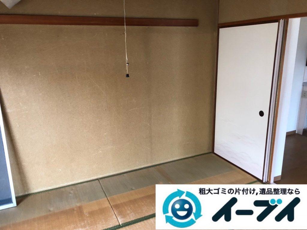 2019年2月12日大阪府忠岡町で箪笥や収納棚の家具処分をはじめ、お部屋の物を全処分させていただきました。写真3