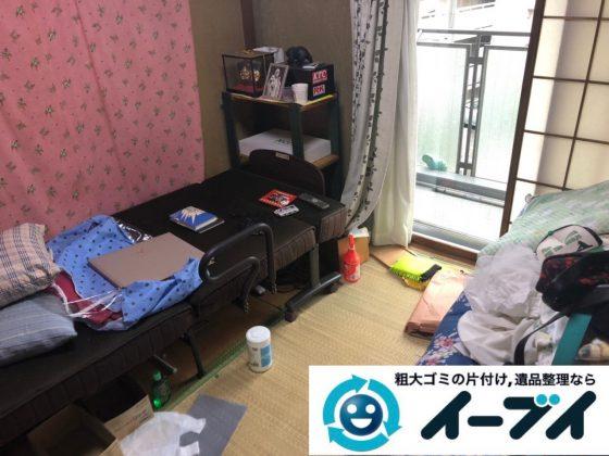 2019年2月13日大阪府摂津市でベッドの大型家具などの不用品回収。写真2