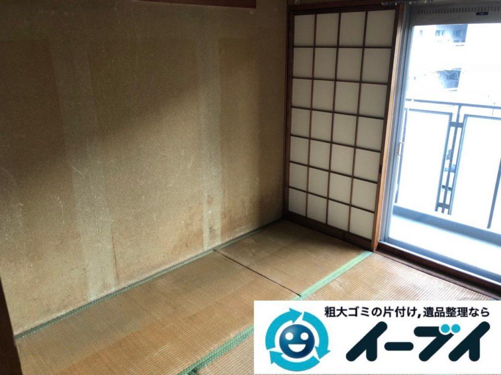 2019年2月13日大阪府摂津市でベッドの大型家具などの不用品回収。写真1