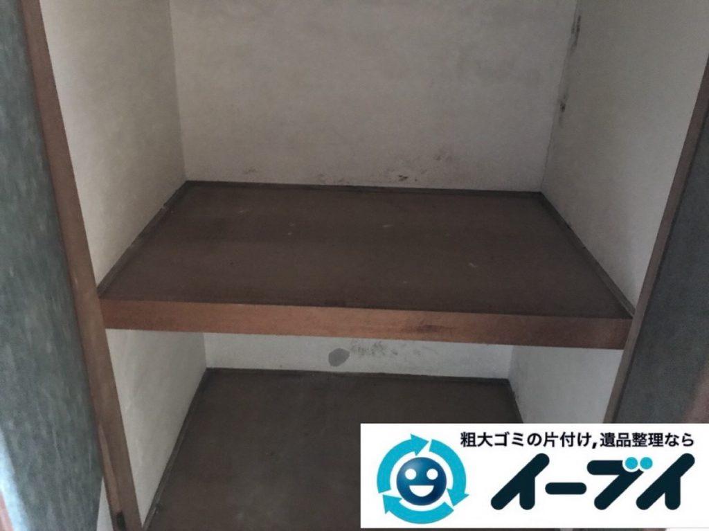 2019年2月21日大阪府河南町で押し入れと台所の片付け作業。写真4