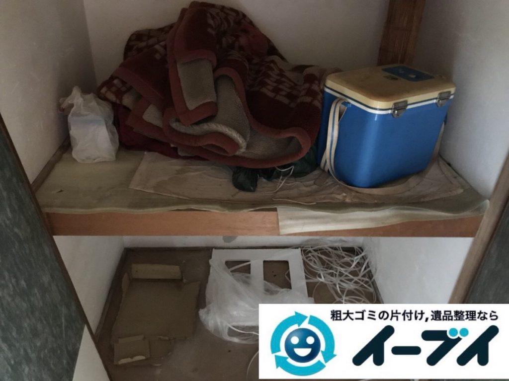 2019年2月21日大阪府河南町で押し入れと台所の片付け作業。写真3