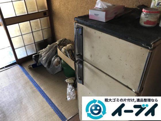 2019年2月22日大阪府泉佐野市で冷蔵庫の大型家電処分の不用品回収。写真3