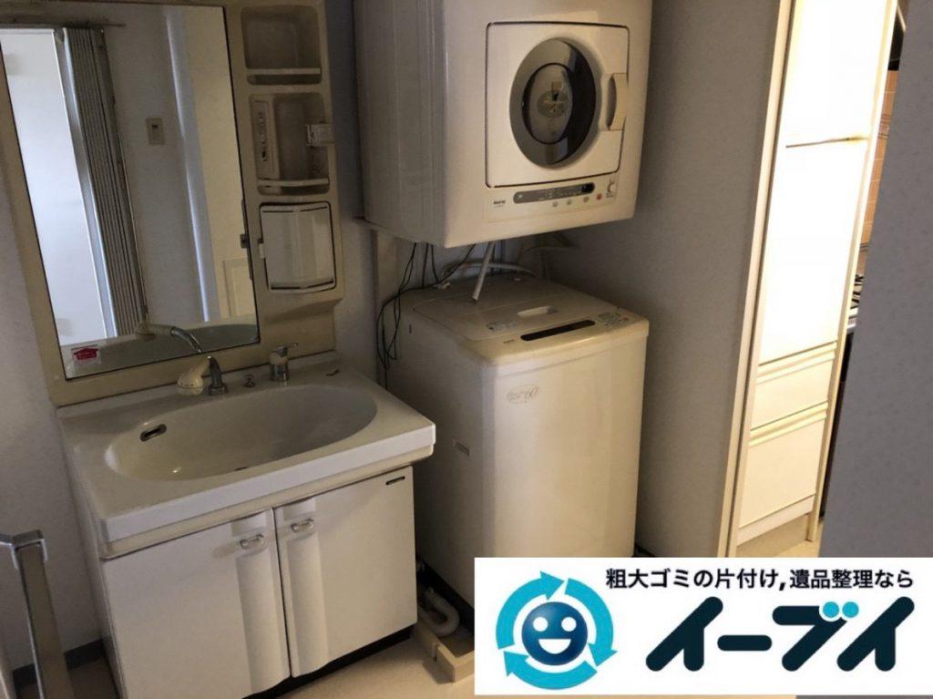 2019年2月5日大阪府大阪狭山市でお部屋の洗濯機や乾燥機の家電処分から細かな生活用品まで、不用品回収させていただきました。写真1