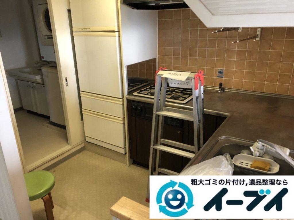 2019年2月14日大阪府東大阪市で食器棚や冷蔵庫の大型粗大ゴミ処分の不用品回収。写真3