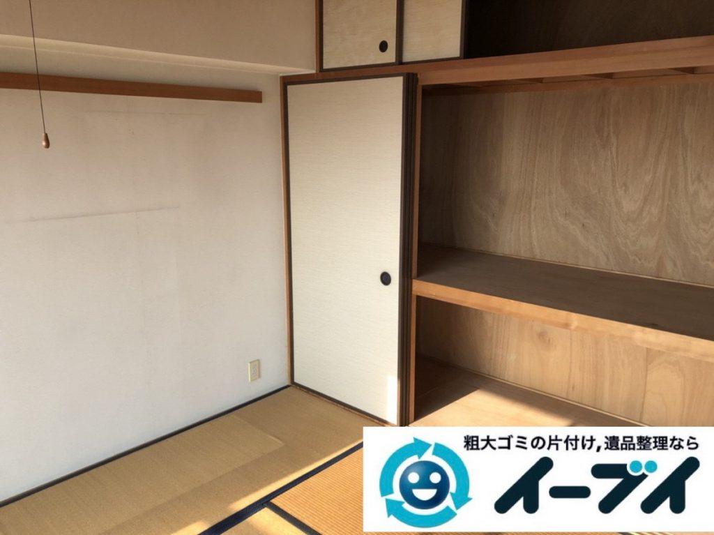 2019年2月16日大阪府枚方市で箪笥や衣類など、お部屋まるごと片付けさせていただきました。写真2