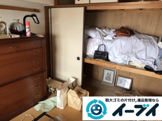 2019年2月16日大阪府枚方市で箪笥や衣類など、お部屋まるごと片付けさせていただきました。写真1