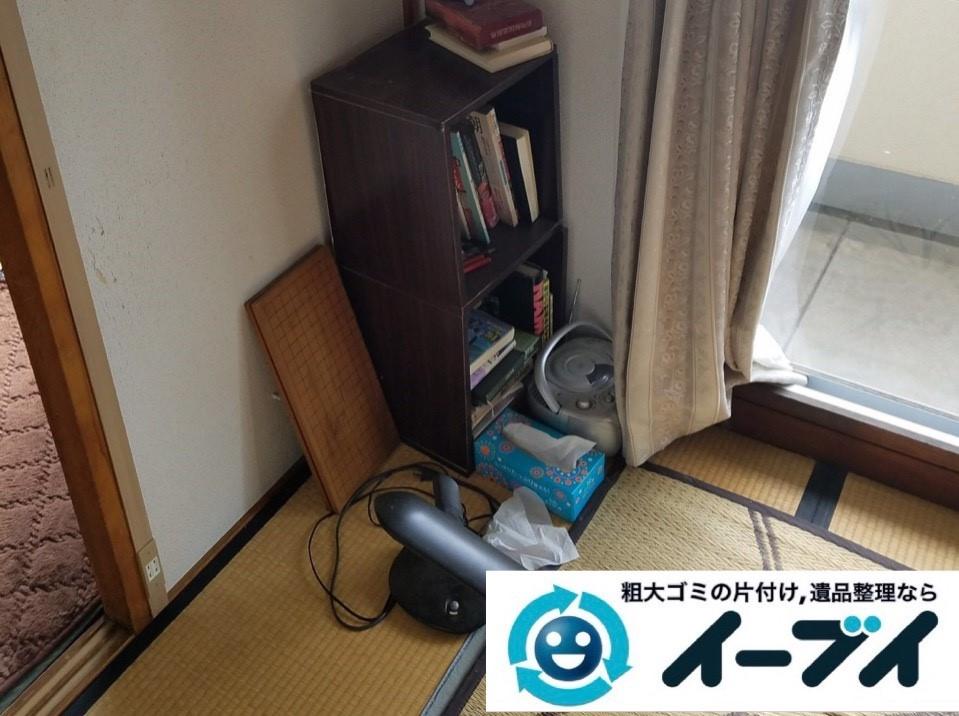 2019年2月20日大阪府池田市で収納ラックやカラーボックスなどの不用品回収作業。写真3