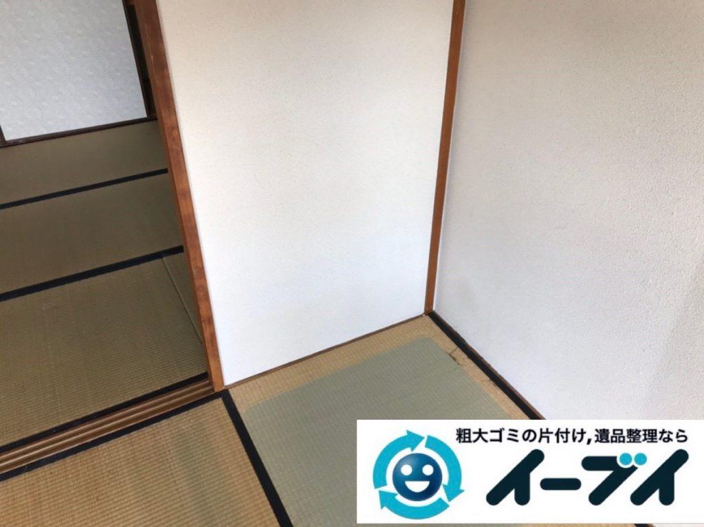 2019年2月20日大阪府池田市で収納ラックやカラーボックスなどの不用品回収作業。写真2