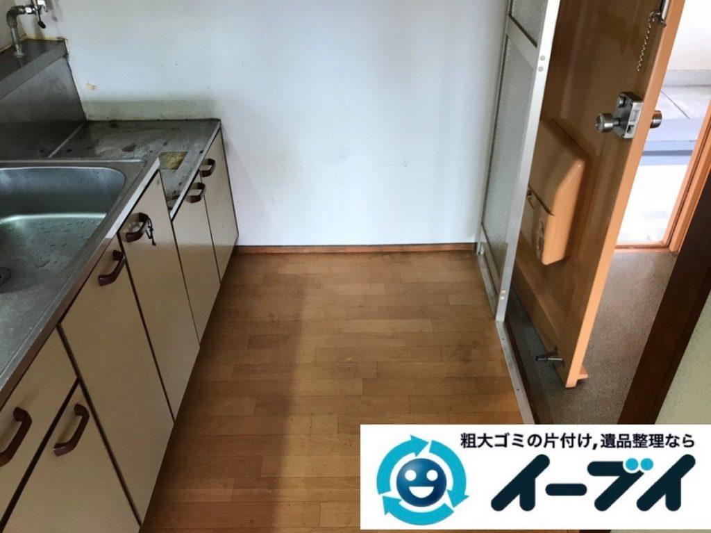 2019年2月19日大阪府河内長野市で台所にある不用品の片付け作業。写真2