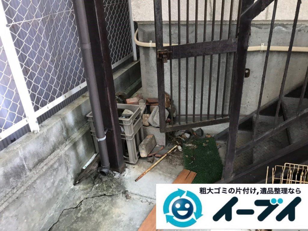 2019年2月2日大阪府大阪市都島区でガレージの不用品回収。写真6