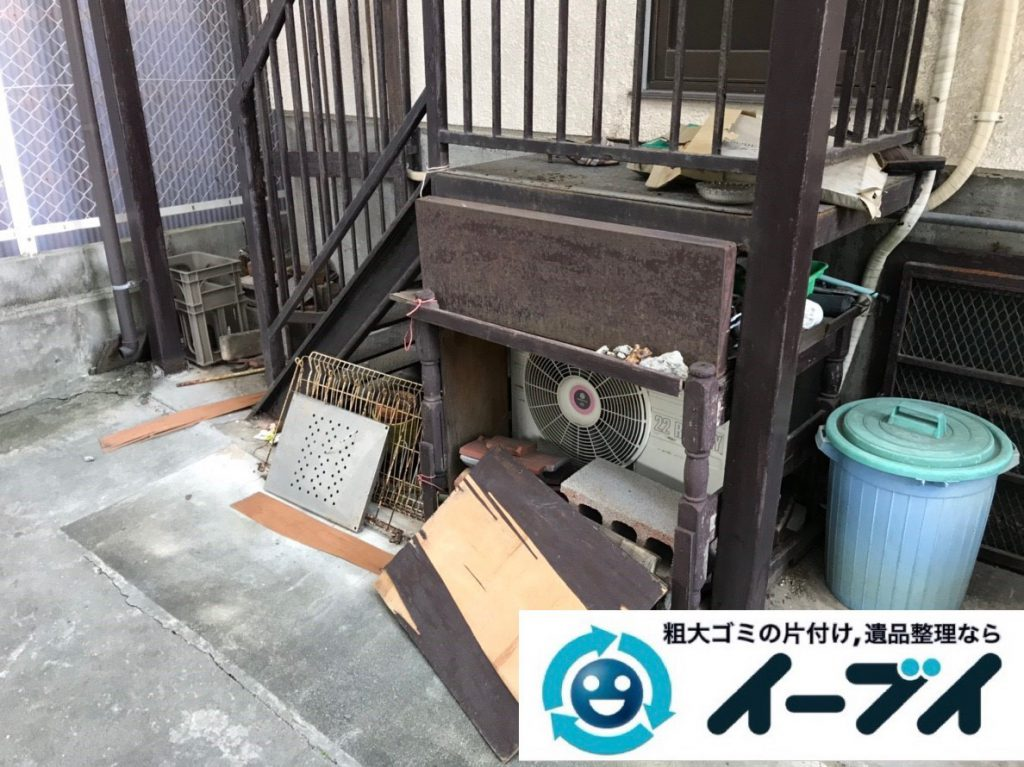 2019年2月2日大阪府大阪市都島区でガレージの不用品回収。写真4