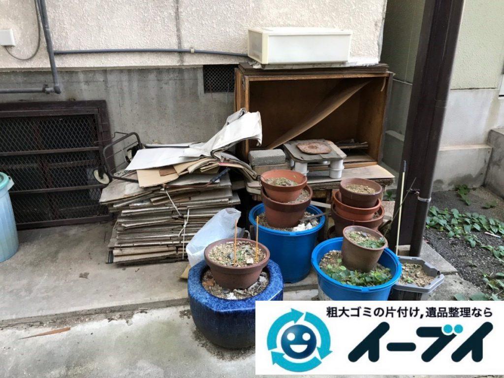 2019年2月2日大阪府大阪市都島区でガレージの不用品回収。写真2
