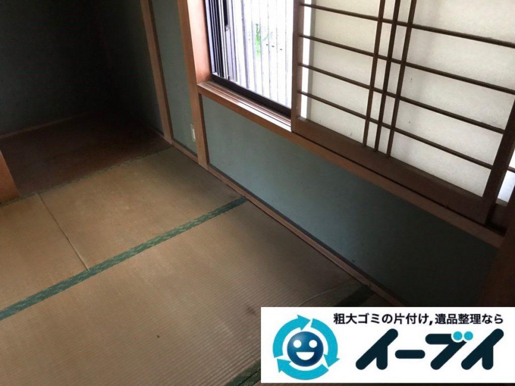 2019年2月1日大阪府大阪市阿倍野区で洋服ダンスや鏡台などの不用品回収。写真4