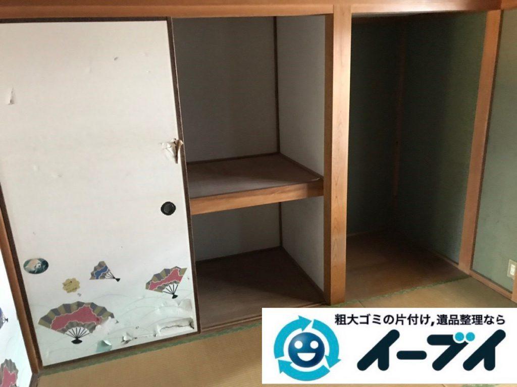 2019年2月1日大阪府大阪市阿倍野区で洋服ダンスや鏡台などの不用品回収。写真2