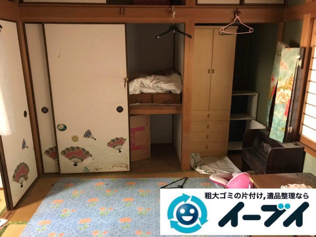 2019年2月1日大阪府大阪市阿倍野区で洋服ダンスや鏡台などの不用品回収。写真1