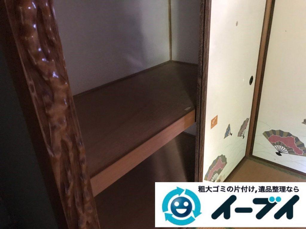 2019年1月31日大阪府大阪市鶴見区で衣類などが散乱したお部屋を片付けさせていただきました。写真4