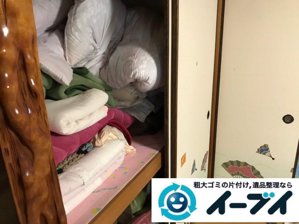 2019年1月31日大阪府大阪市鶴見区で衣類などが散乱したお部屋を片付けさせていただきました。写真3