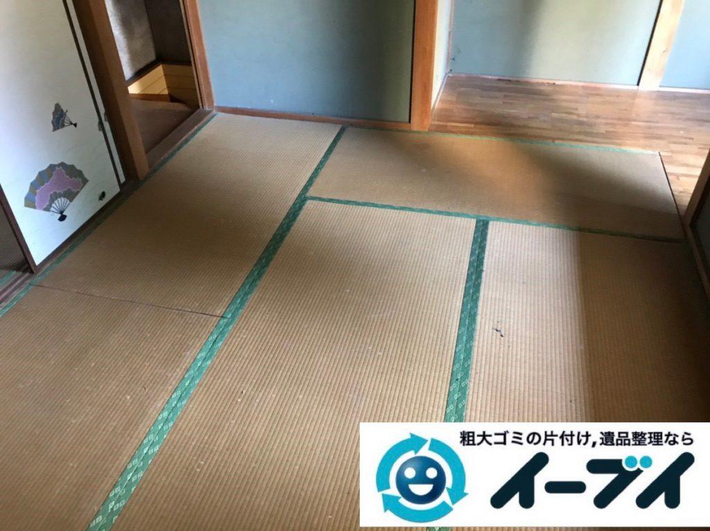 2019年1月31日大阪府大阪市鶴見区で衣類などが散乱したお部屋を片付けさせていただきました。写真2