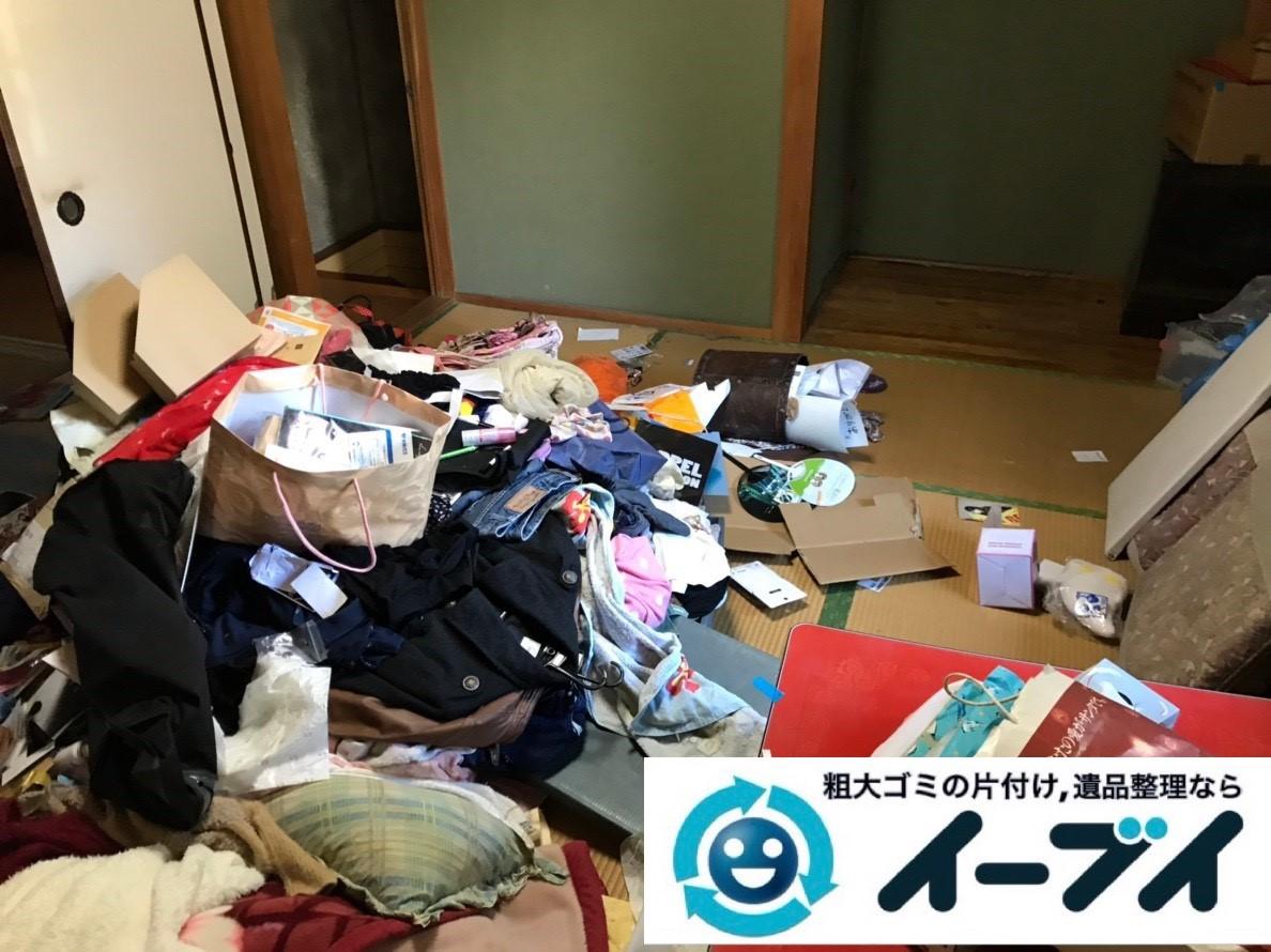 2019年1月31日大阪府大阪市鶴見区で衣類などが散乱したお部屋を片付けさせていただきました。写真1