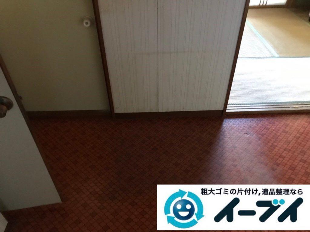 2019年2月18日大阪府池田市でソファや掃除機などの粗大ゴミ処分の不用品回収。写真4