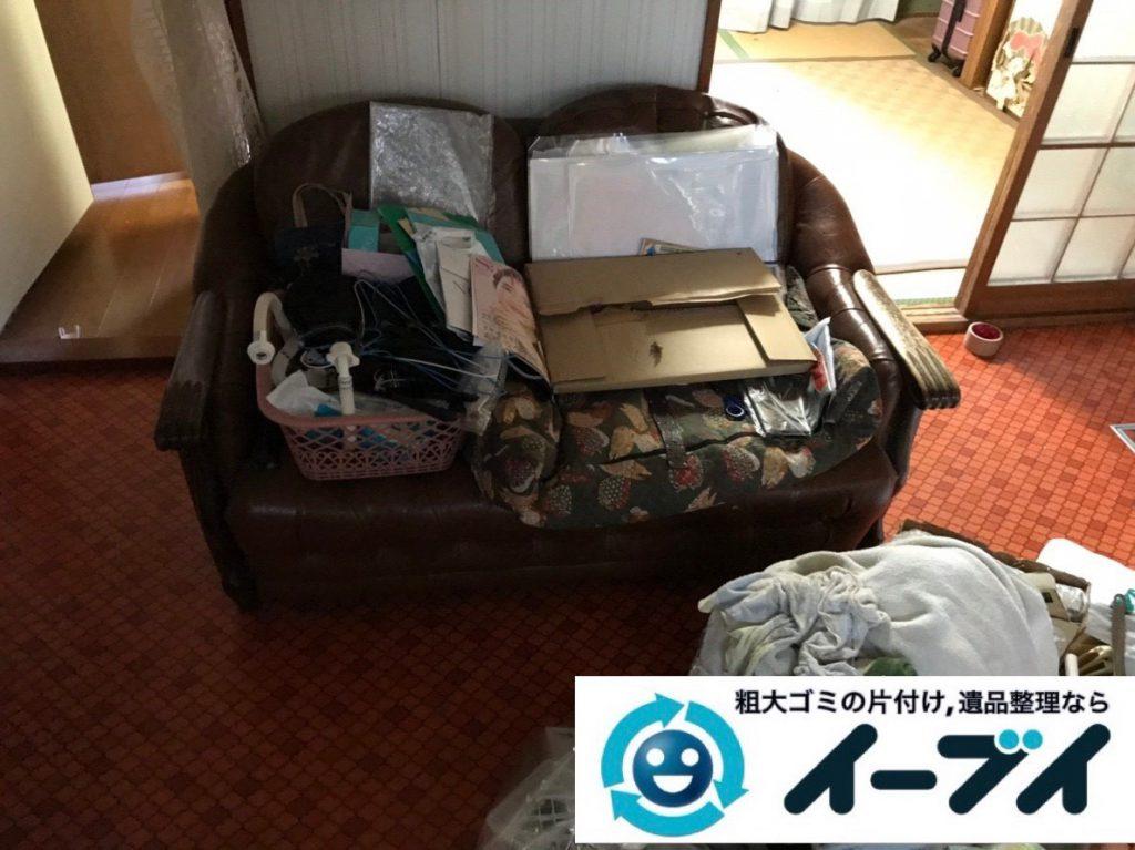 2019年2月18日大阪府池田市でソファや掃除機などの粗大ゴミ処分の不用品回収。写真3