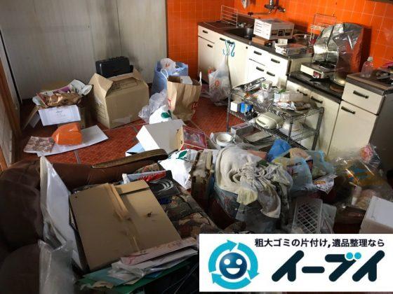 2019年2月7日大阪府柏原市でゴミ屋敷化した台所、浴室などの不用品回収。写真2
