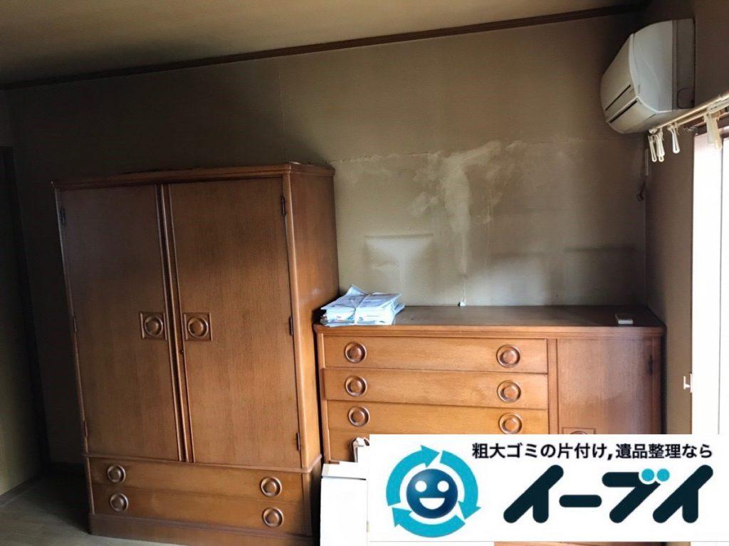 2019年1月29日大阪府大阪市生野区で箪笥やベッドなど大型家具処分の不用品回収。写真3