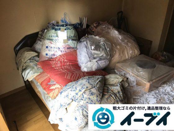2019年1月29日大阪府大阪市生野区で箪笥やベッドなど大型家具処分の不用品回収。写真1