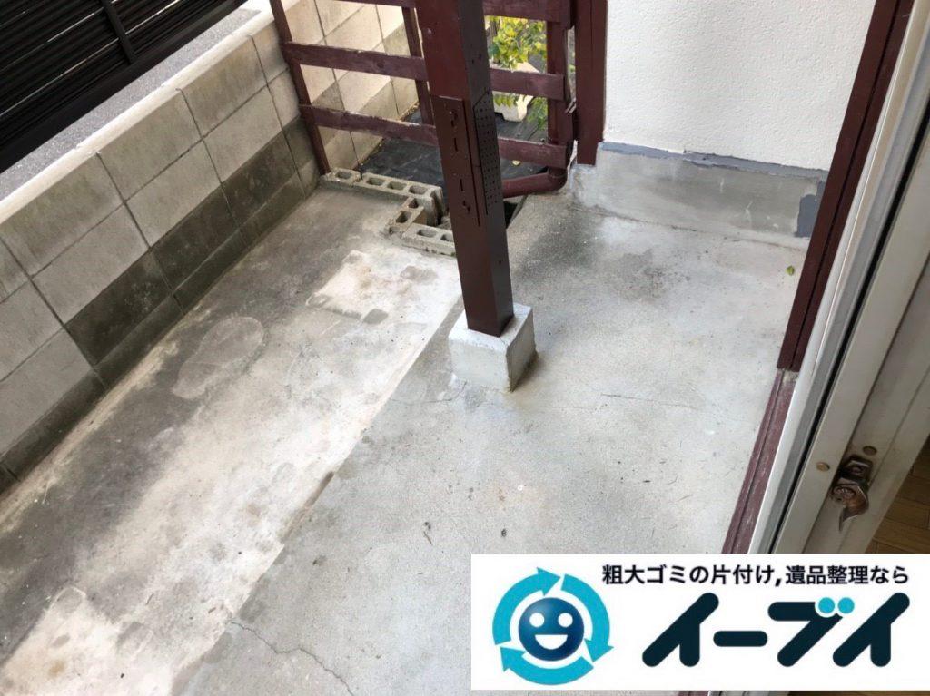 2019年1月30日大阪府大阪市福島区でベランダの片付け。写真4