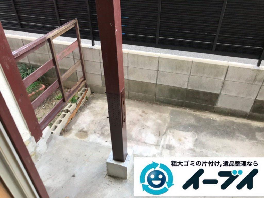 2019年1月30日大阪府大阪市福島区でベランダの片付け。写真2