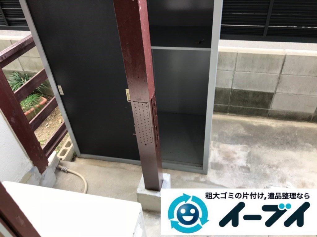 2019年1月30日大阪府大阪市福島区でベランダの片付け。写真1